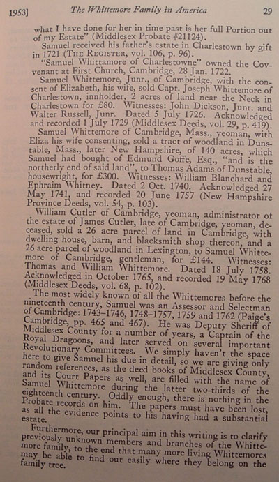 Whittemore Family in America, page 29